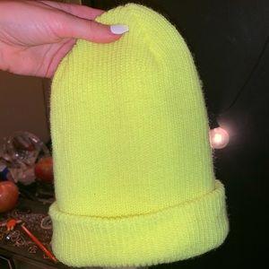 Neon yellow/green beanie